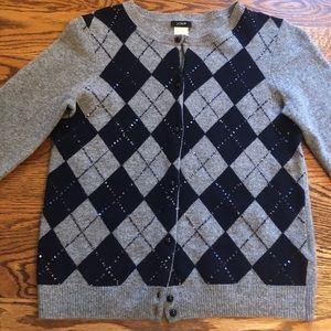 JCrew wool cashmere cardigan S